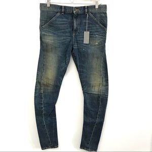 6397 The News Womens 28 Twisted Seam Dirty Faded
